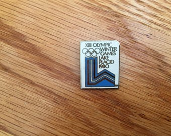 Vintage 1980 XIII Olympic Winter Games Lake Placid Pin