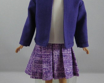 "Barbie Skipper / Modern 10"" Skipper Purple Jacket and Dress"