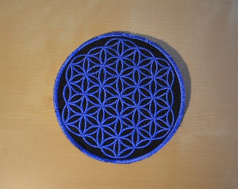 Blue Flower of Life Patch