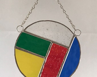 Round Suncatcher - Red/Blue/Green/Yellow/Clear