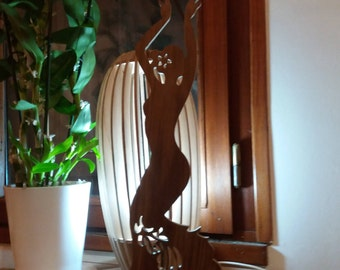 Jewelry holder 7mm thick solid wood, 36cm tall