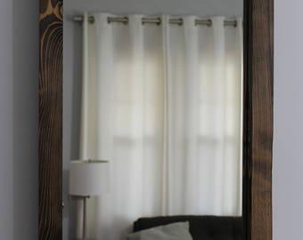 Bathroom Mirrors Wood Frame rustic mirror | etsy