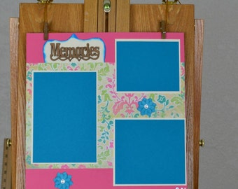 Premade 12 x 12 scrapbook layout, One page layouts, Memories layouts