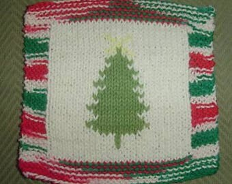 X-mas Tree cloth knitpattern
