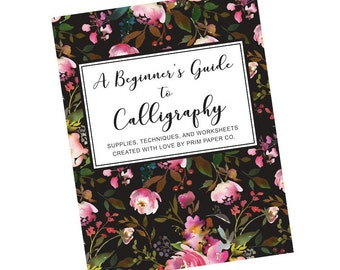 Preorder - Beginner's Guide to Calligraphy, Calligraphy Kit, Supply Kit, Lettering Kit, Calligraphy Worksheets, Calligraphy Workbook