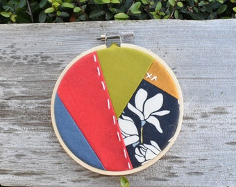 Quilted embroidery hoop