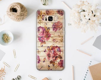 Wood Case Fits Samsung Note 5 Cover To Samsung S6 Edge Plus Galaxy Floral Phone Case To Samsung S7 Edge Phone Galaxy S8 Samsung S5 WA1216
