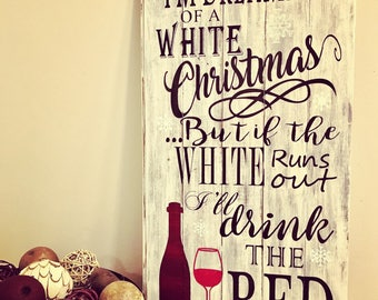 Dreaming of a White Christmas. Rustic Christmas Decor. Christmas Wall Decor. Christmas Home Decor. Rustic Christmas Home Decor. Holidays