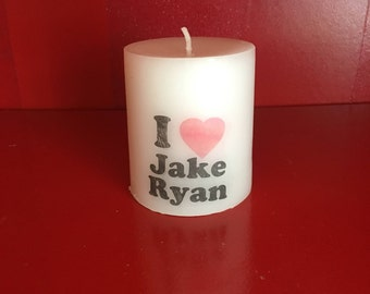 "Sixteen Candles ""I heart Jake Ryan"" Candle 80's Teen Movie"