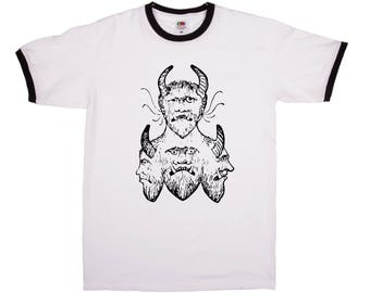 Devil Head Tshirt | Demon | Goth | Satan | 666 | 100% Cotton | S | M | L | XL | 2XL