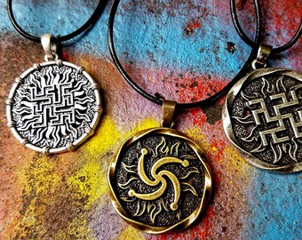 Swastika 'reclaim' pendant necklaces