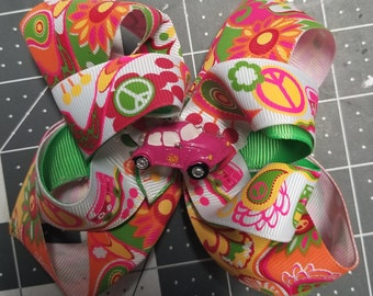 Multi Colored Groovy Boutique Hair bow