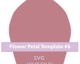 Paper Flower Template #6 SVG file