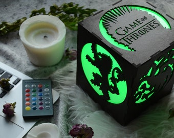 Game of Thrones Stark, Night light lamp, Game of thrones decor, Game of thrones daenerys, Game of thrones office, Game of thrones dad