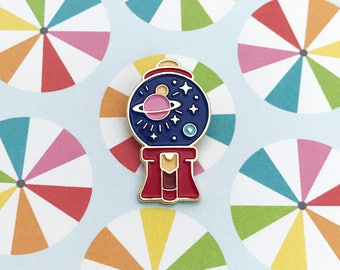 Space Gumball Enamel Pin