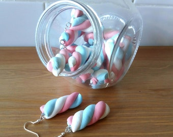 Earrings Marshmallow Cloud Gummy marshmallow earrings Earrings food candy Earrings kawaii