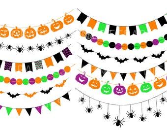 Halloween Banners Clipart Halloween Download Instant