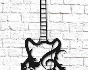 Guitar Metal Wall Art