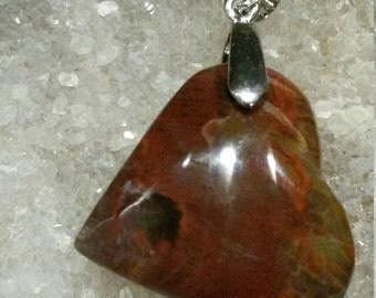 Jaspe rouge 17,30gr-Pendentif coeur