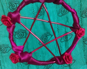 Pentacle Ornament - Rose Themed