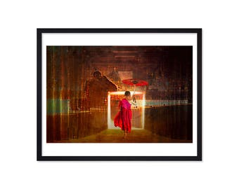 Superieur Little Monk   Spiritual Wall Art   Buddhist Print   Zen Wall Art    Meditation