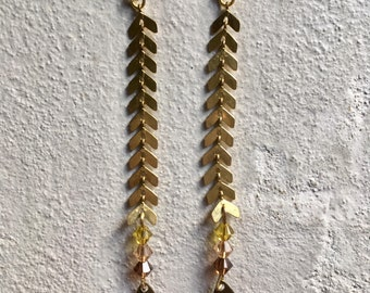 Handmade chevron earring