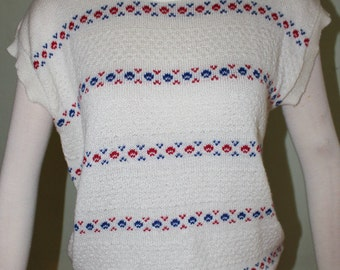 """Large, Vintage 1970's pullover sweater, super cute! 30/32"""" waist"""