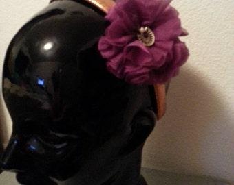 Girls Copper and Purple Headband