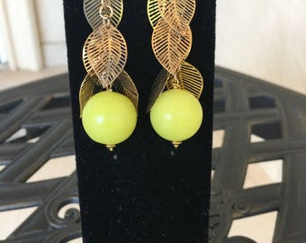 Olive Jade earrings by Dobka