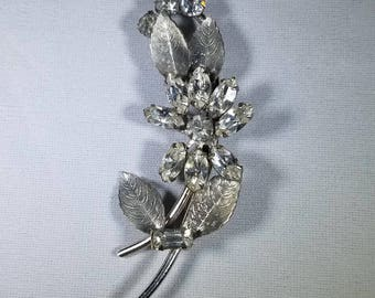 Vintage-Rhinestone-Flower-Brooch-Pin-Jewelry-Accessories