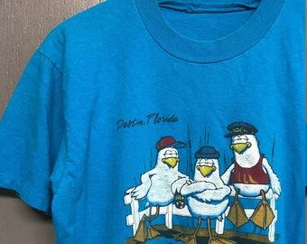 M vintage 80s 1985 Destin Florida tourist t shirt
