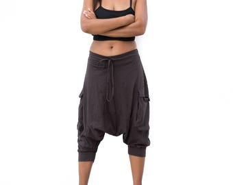 Harem Pants  men women Drop Crotch pants, Ninja Pants, Boho Pants, Yoga Pants, Casual Pants, Gypsy Pants, Baggy Pants