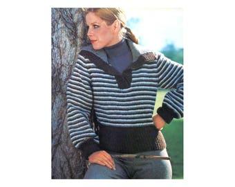 3-in-1 Knitting Pattern - Cardigan, Pullover, Vest Set