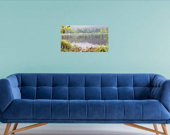 Beautiful picture at Trillium Lake in Oregon photo art with ducks swimming in the distance Print  Download