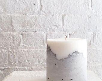 Homemade Concreate base candle