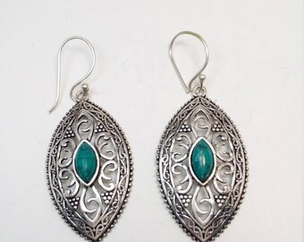 Sterling silver 925 Santa Rosa Turquoise vintage style earrings new reduced price