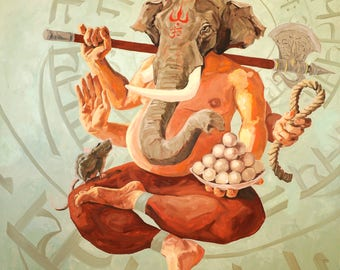 Ganapati - Fine Art Print 30x30cm