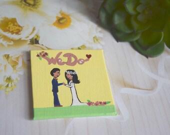 Personalized Wedding Save The Date Favors Painting Magnet Illustration Boda Matrimonio Imanes Recuerdos Personalizados