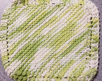 Handmade Knitted Dishcloth - Potpourri
