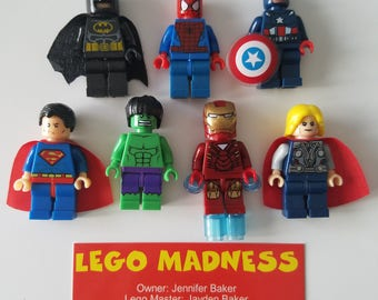 Choice of 1 LEGO Minifigure Toy Popular Characters for Boys Girls Gift Collectors Item Favor Marvel DC Superhero Princess