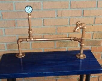 handmade industrial decor table