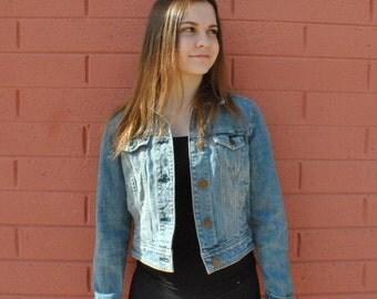AMERICAN EAGLE Cropped Jean Jacket Women's Medium