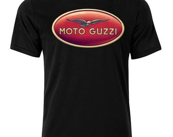 Moto Guzzi II - Graphic Cotton T Shirt Short or Long Sleeve