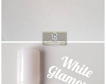 Resin acrylic nails 10gr White Glamour