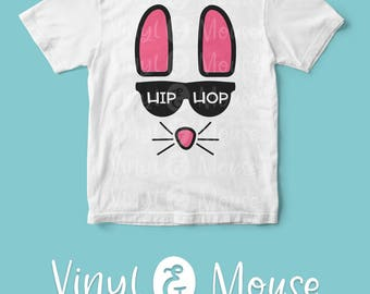 Hip Easter Bunny SVG Cutting File, Cricut Cameo svg dxf, Sassy Easter svg, Hip Bunny svg, Hip easter svg, Easter dxf, Easter Iron On