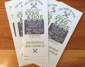 The Hunt Is Over - Stag & Doe Ticket