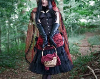 Into the Woods Little Red Riding Hood Costume OOAK - Ready to Ship