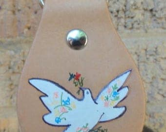 Key Fob with Picasso Dove