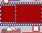 Premade Baseball Scrapbook Page - Hey Batter