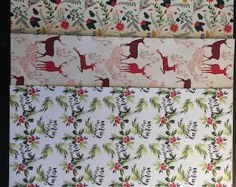 Planner Dividers-Deer-Merry Christmas-sprigs & poinsettia